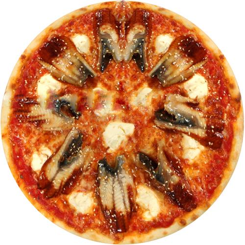 Пицца с угрем и сыром Филадельфия
